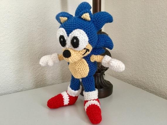 Sonic Crochet Pattern Hedgehog Amigurumi Doll Pattern Animal Etsy