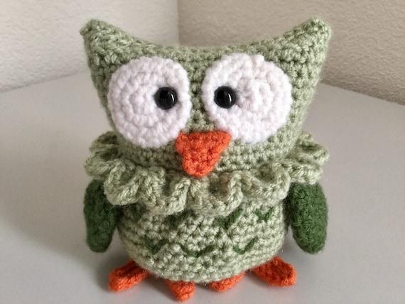 Crochet Owl Pattern Cute Woodland Bird Pattern Crochet Etsy