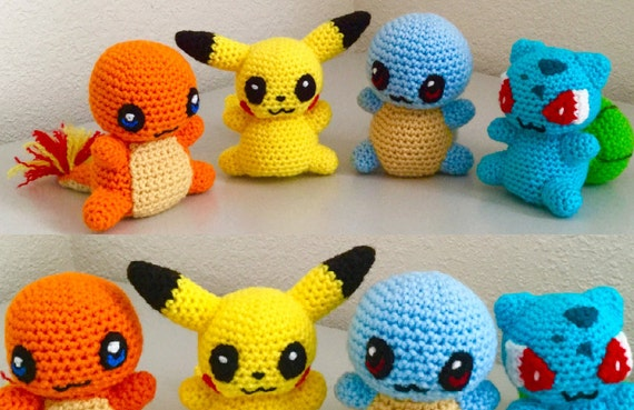 Crochet Juguetes De Pikachu Ganchillo Hecho A Mano Muñecos ... | 369x570