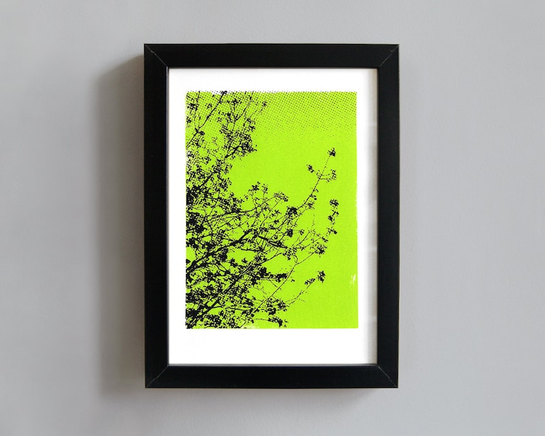 Trees screenprint  trees art print abstract art print tree image 0