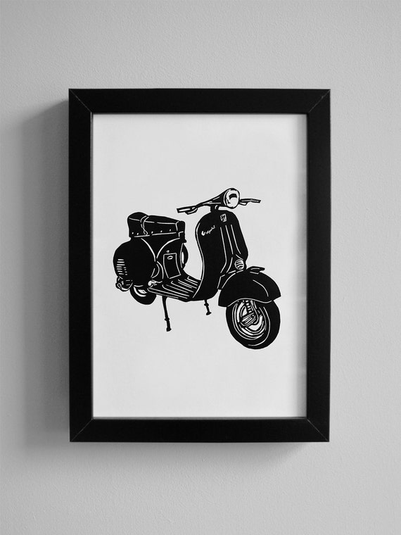 free motion embroidery fiber art raw edge applique scooter gifts textile art textile pictures scooter Vespa art scooter art Vespa
