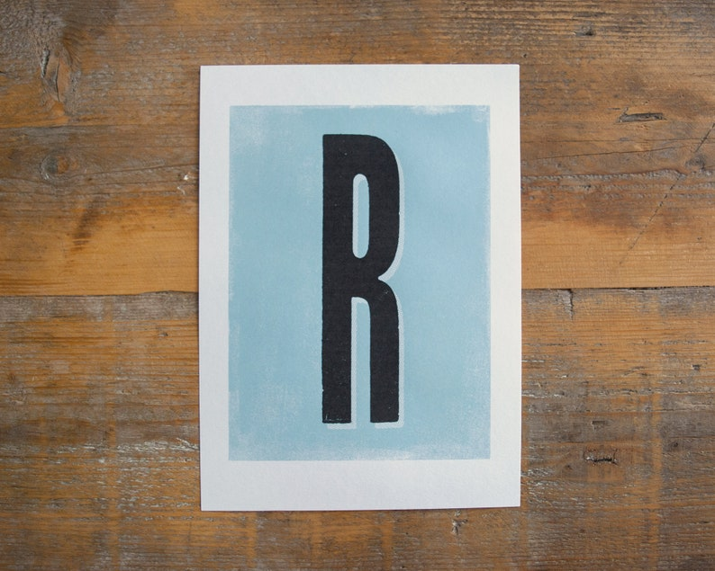 A-Z Initial Letter and 1-9 Number print  monogram print image 0