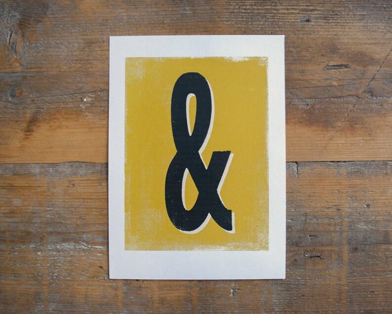 Ampersand print  monogram print letterpress type image 0