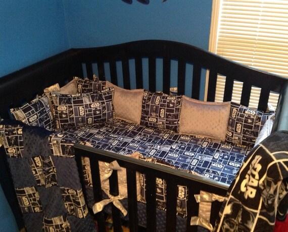 Star Wars Crib Set Crib Bedding 7 Piece Ready To Etsy