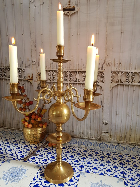 Classic French Chandelier Table Wedding Centerpiece5 Arms Etsy