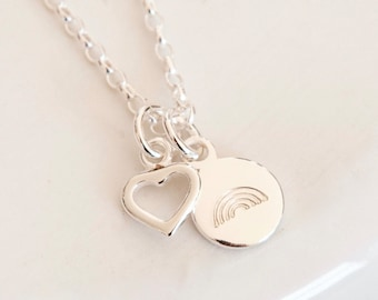 Sterling Silver Rainbow Necklace ∙ Nurse Gift ∙ Rainbow Jewellery ∙ Keyworker Birthday Gift Idea ∙ Birthday Gift for Her ∙ Rainbow Gifts