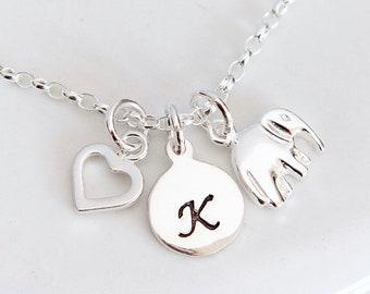 Personalised Elephant Bracelet ∙ Sterling Silver Elephant Jewellery ∙ Elephant Gifts ∙ Gift for Girl ∙ Birthday Gift Ideas ∙ Elephant Lover