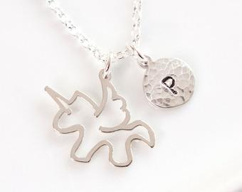 Personalised Unicorn Necklace -  Unicorn Gifts - Sterling Silver - Birthday Gift Idea - Unicorn Jewellery - Girls Gifts • Christmas Present