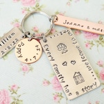 Our Family Story Keychain, Our Home, Valentines Gift for Him, Gift Idea for Mum, Personalized Keyring, Childrens Names, Family Tree for Mom