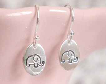 Elephant Earrings ∙ 925 Sterling Silver ∙ Elephant Gifts ∙ Dangle Earrings ∙ Birthday Gift Idea ∙ Gifts for Her ∙ Christmas Stocking Filler