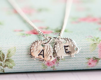 Hedgehog Necklace - Sterling Silver Necklace - Birthday Gift for Nanny - Personalised Hedgehog Gift - Gift for Mum - Christmas Present