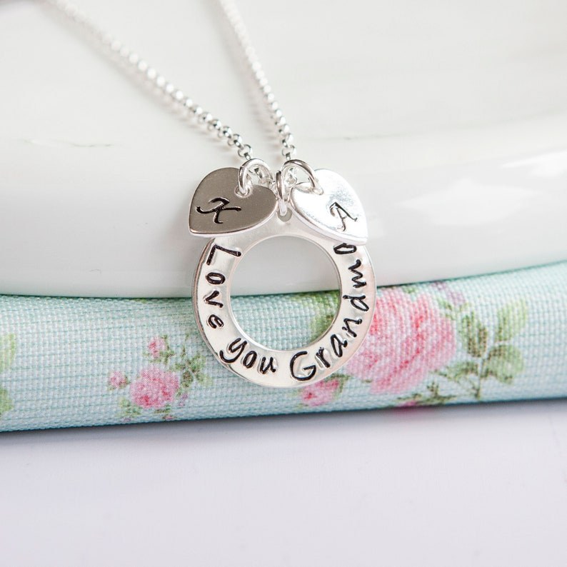 Grandma Necklace  Personalised Gift for Mum  Grandchildren image 0