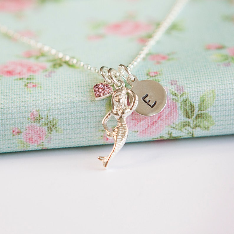 Mermaid Necklace  Personalised Gift for Girl  Girls image 0