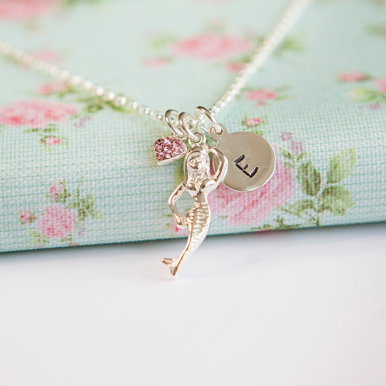 Mermaid Necklace  Personalised Stocking Filler for Girl  image 0