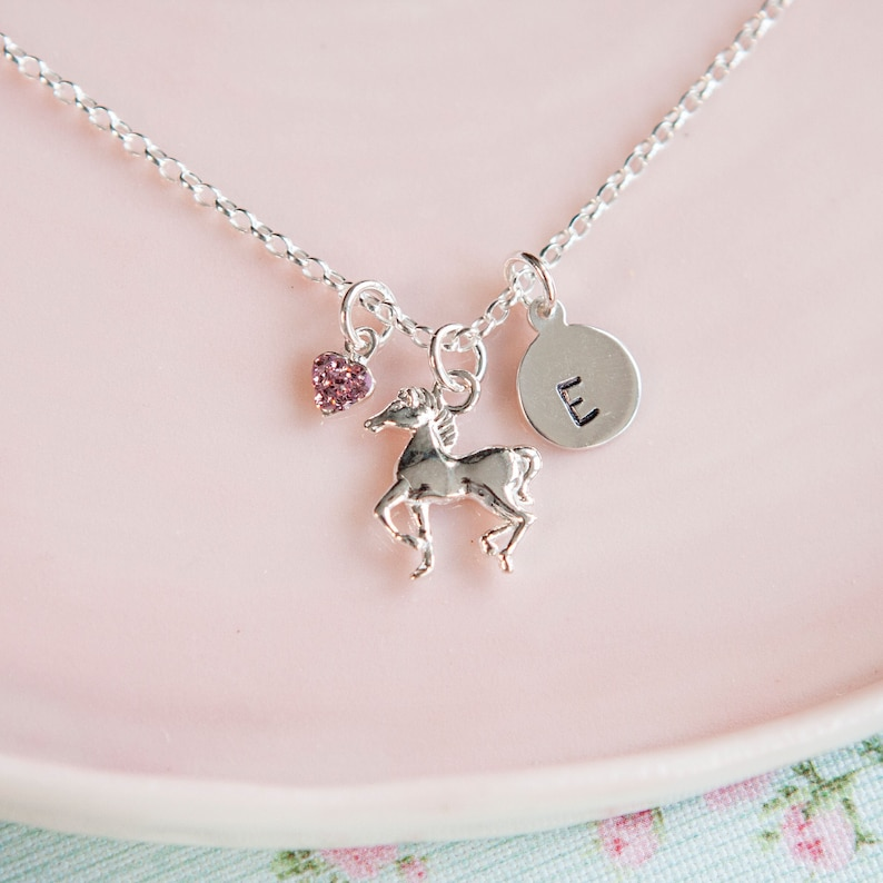 Horse Necklace  Personalised Stocking Filler for Girl  image 0