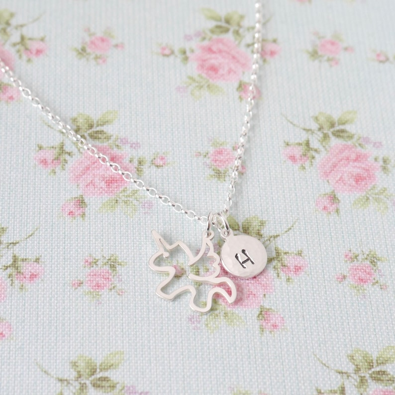 Personalised Unicorn Necklace  Unicorn Gifts  Sterling image 0