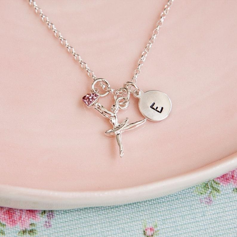 Ballerina Necklace  Personalised Gift for Girl  Dancer image 0