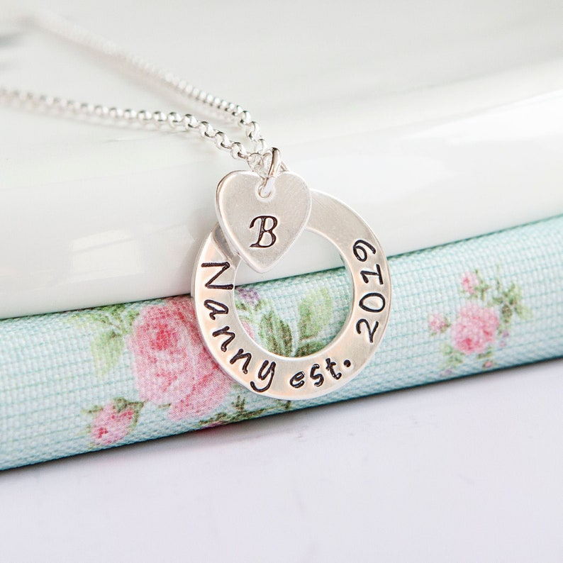 Nanny Necklace  New Grandma Gift  Personalised Grandparent image 0