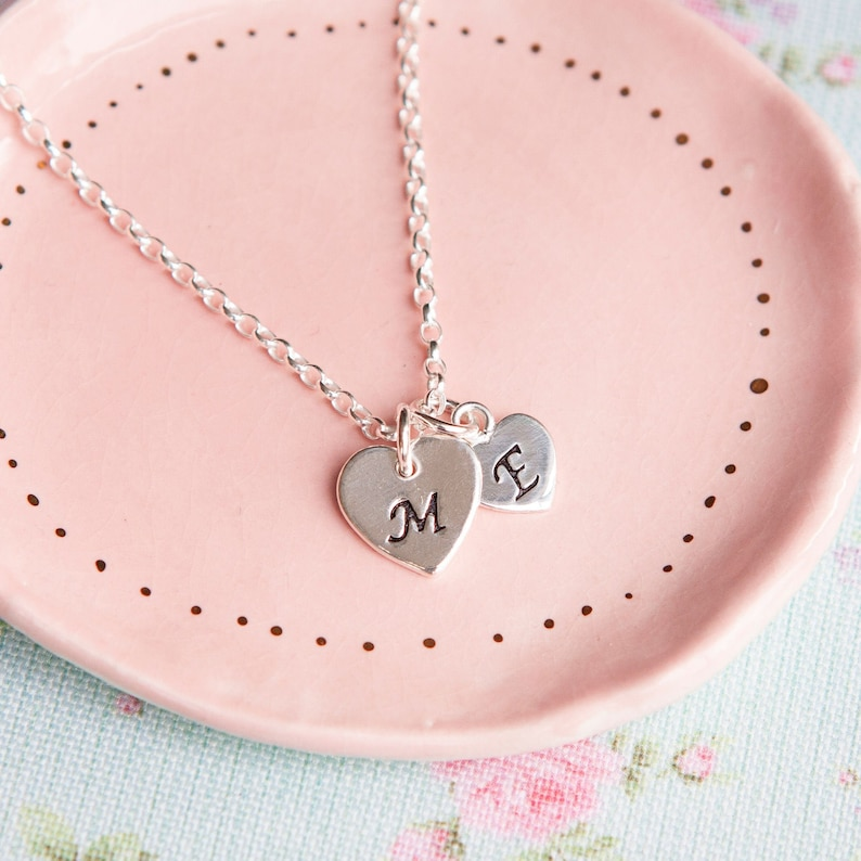 Mother and Child Necklace  Personalised Mothers Necklace  image 0