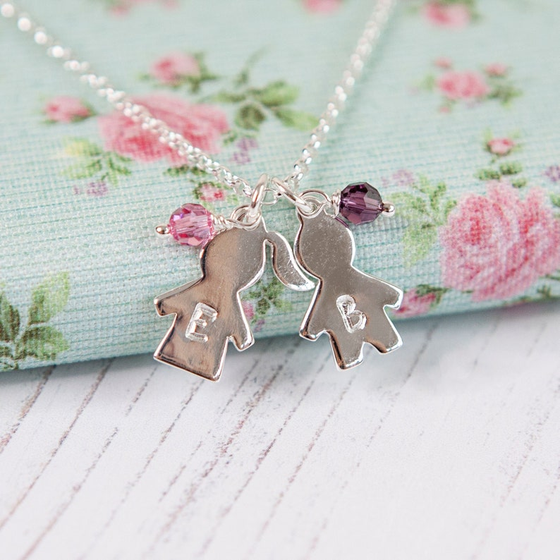 Personalised Boy & Girl Necklace  Christmas Gift for Mother  image 0
