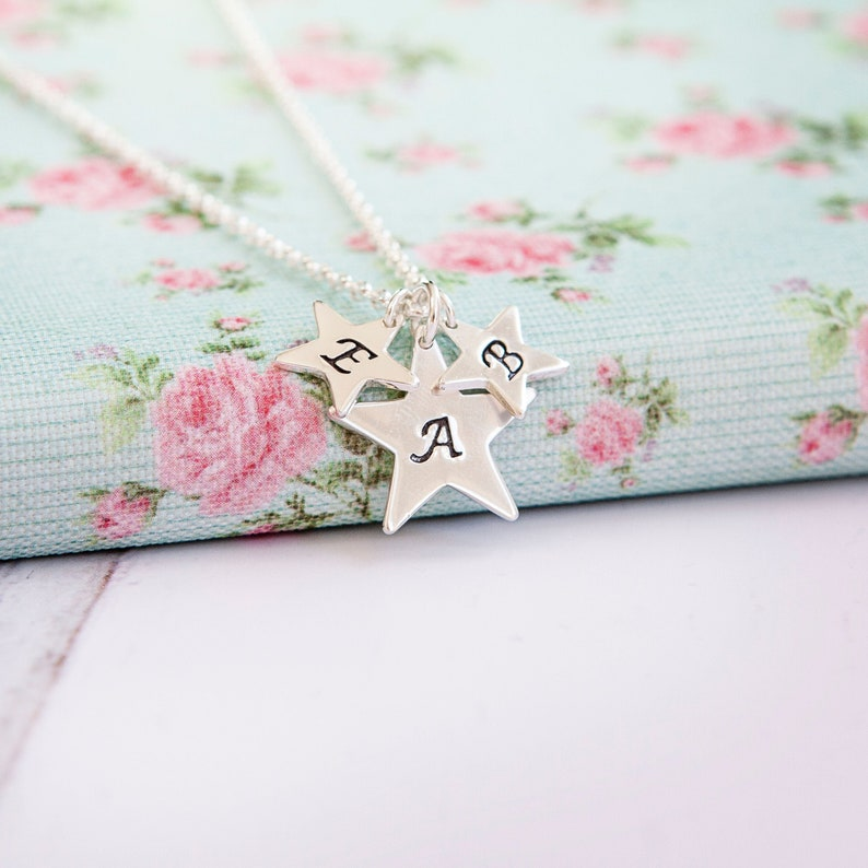 Family Star Necklace  Grandma Necklace  Personalised Mothers image 0