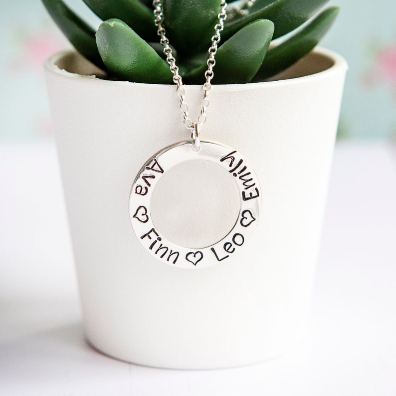 Mothers Necklace  Personalised Family Name Necklace  Custom image 0