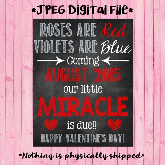 Miracle Valentine S Day Pregnancy Announcement Valentine S Day