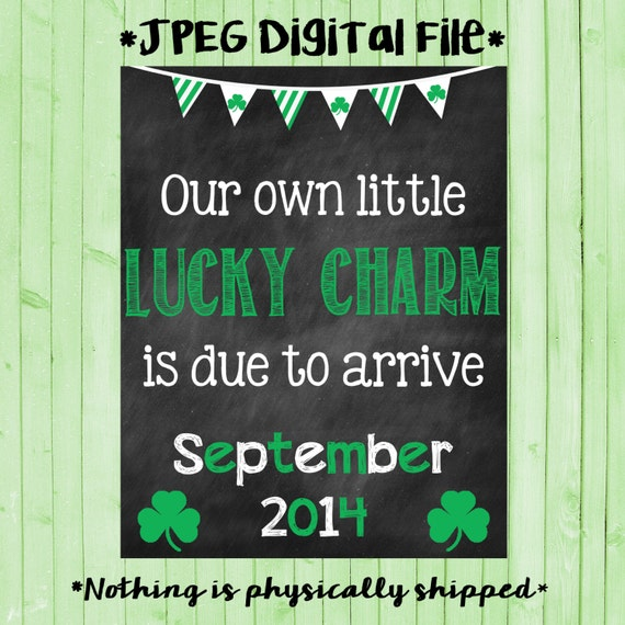 photograph about Printable Pregnancy Announcements titled Printable Being pregnant St Patricks Working day Being pregnant Announcement