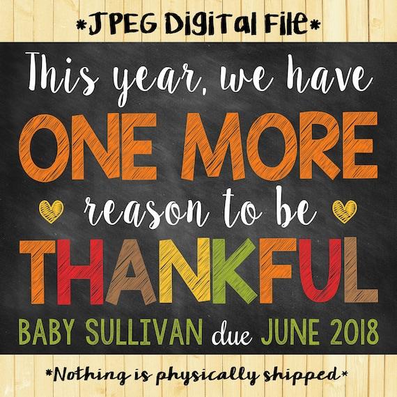 f38b716fd Thanksgiving Pregnancy Reveal // Thanksgiving Pregnancy | Etsy