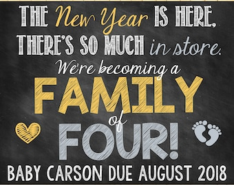 New Year Pregnancy Announcement Only Child Pregnancy Announcement New Year New Years