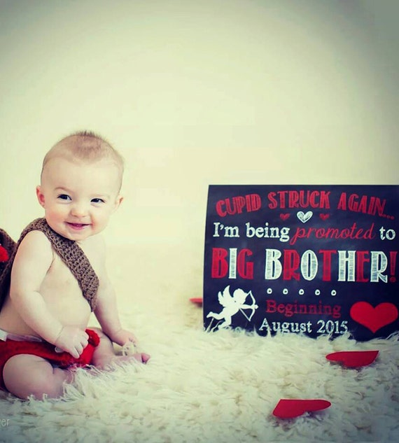 Valentine S Day Pregnancy Announcement Big Brother Etsy