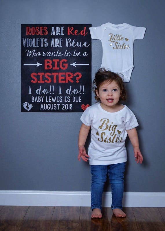 Big Sister Valentine S Day Pregnancy Announcement Etsy