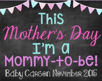 Mother's Day Pregnancy Announcement Mother's Day Pregnancy Reveal Mother's Day Mommy To Be