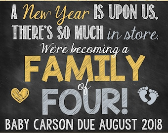 New Year Pregnancy Announcement Only Child Pregnancy Announcement New Year New Years Upcming New Year