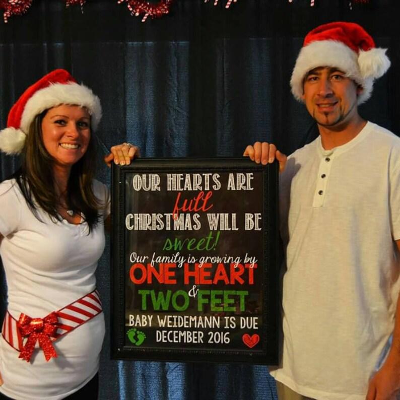 Christmas Pregnancy Announcement Christmas Pregnancy Reveal Etsy