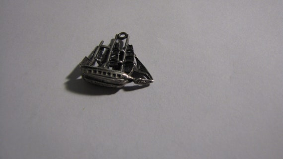 """Vintage  """"Star of India"""" Sailing Ship Sterling Sil"""