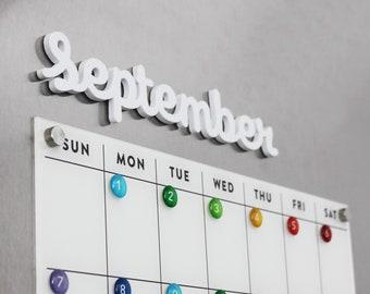 Dry erase calendar | Etsy
