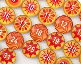 Number Magnets -  Sunshine!