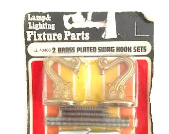 Vintage Hardware Swag Hooks Brass Lighting Planter Hangers