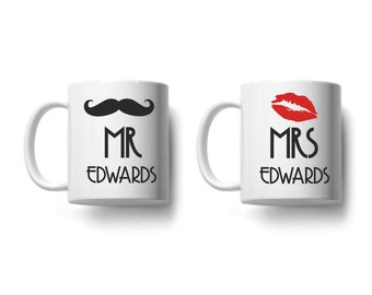 Personalised Mr & Mrs White Mug With ANY Surname