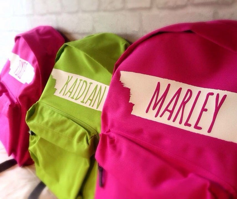 Mini Personalised Backpack with ANY NAME Pre School Young image 0
