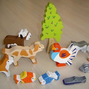 beluga puffin ... walrus DIY  e-book  patterns  plans for 12 different wooden figures: whale