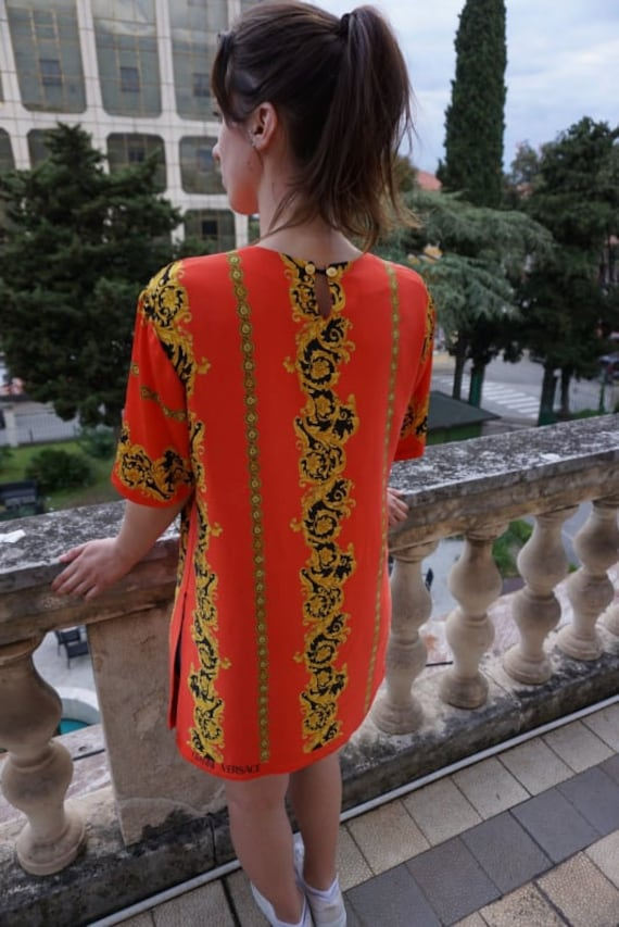 Vintage Blouse sewn of Versace fabric - Versace S… - image 8