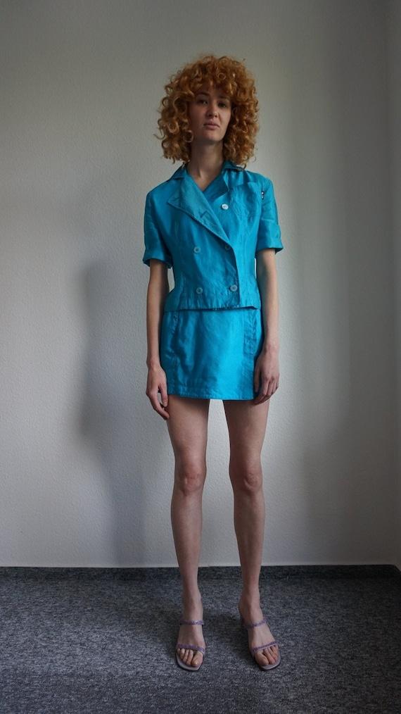 Y2k Gianfranco Ferre Jeans Pant Suit - Mini Skirt