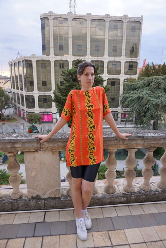 Vintage Blouse sewn of Versace fabric - Versace S… - image 3