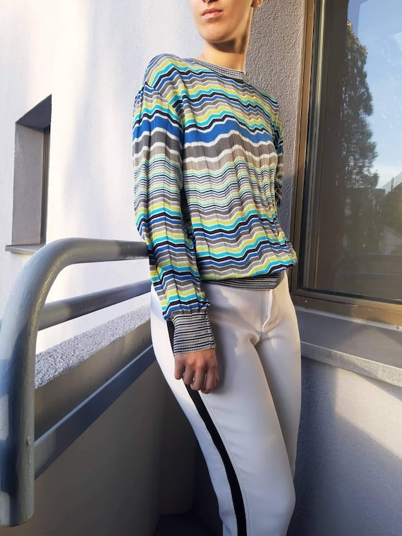 Y2k MISSONI Striped Sweater - Vintage Missoni - Mi
