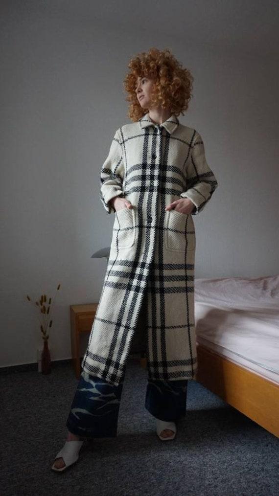 Burberry Wool Maxi Coat - Nova Check Coat - Burber