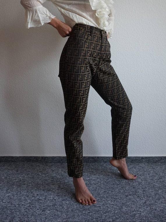 90s Fendi Zucca Pants - Vintage Fendi - FF Pants -