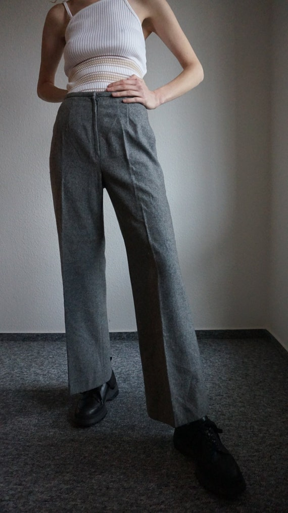 70s Wool Flares - Flared Pants - Bell Bottoms - Wi
