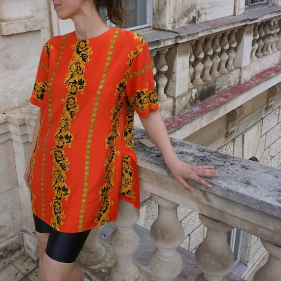 Vintage Blouse sewn of Versace fabric - Versace Si